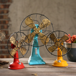 Countryside Style Vintage Fan Resin Model Decoration Artwork