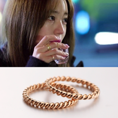 Rose gold rings female Korean fashion jewelry accessories forefinger twist with paragraph titanium steel ring tail ring gift 18k