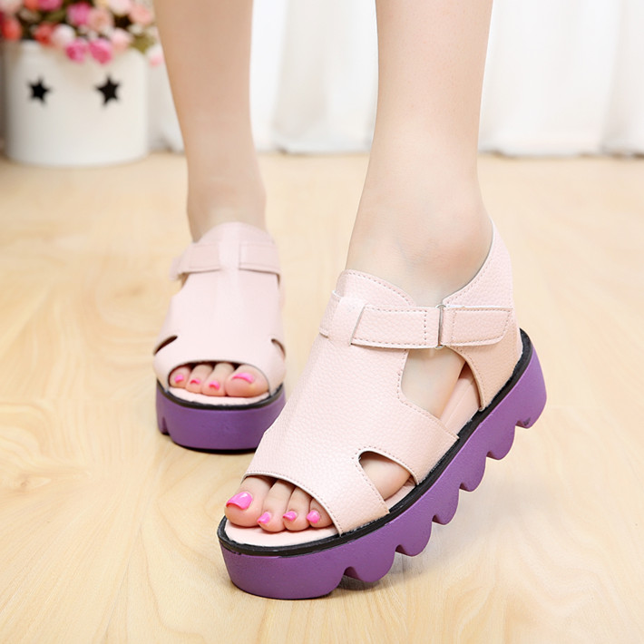 Platform sandals Women 2014 Summer new Korean student shook his shoes sneakers muffin slope with high-heeled sandals