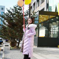 反季特价新款羽绒服女款白鸭绒胸标款修身显瘦狐狸毛时尚韩版外套