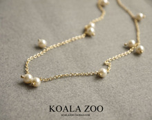 Japanese custom style Changmee delicate dainty joker fair maiden temperament short glass pearl necklace chain of clavicle