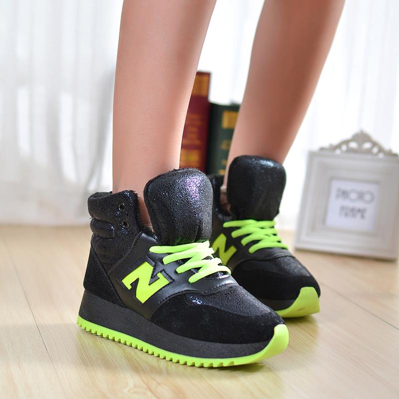 韩版秋冬新款季运动鞋女加厚棉鞋学生厚底短靴平底女鞋短筒棉靴潮