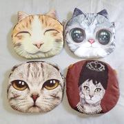 有猫catshere 日韩潮包杂志热款3D猫咪印花喵星人动物链条单肩包