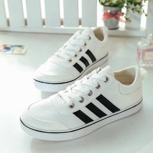 2015夏款低帮帆布鞋女 韩版学生板鞋 女休闲鞋潮白色鞋女单鞋布鞋