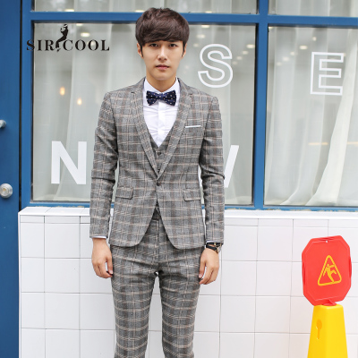SIRCOOL new Korean version of casual plaid suit England tide male Korean Slim small suit has suit