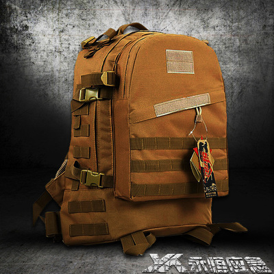 3D tactical combat camouflage backpack shoulder male commando assault pack outdoor sports bag backpack mountaineering bags