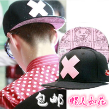 Exobiology oh se-hoon EXO in same pirates Wang Qiao the pink X flat along the hip-hop cap baseball hat han edition of the men and women