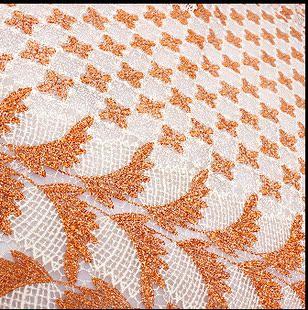 欧美网布金线刺绣水溶镂空蕾丝沙发布料棉麻窗帘布唐装服装面料夏