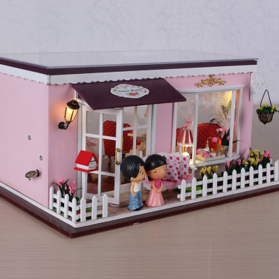 diy honey hut love building houses of hand assembled model toy birthday gift girl villa