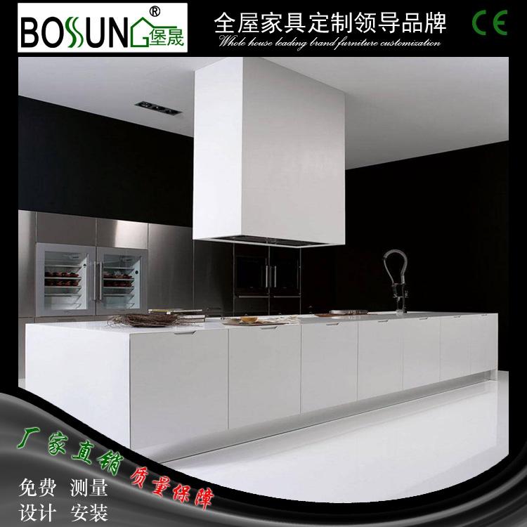 特價!堡晟工廠價格裝修定製一體式簡約整體廚房 不鏽鋼廚櫃整體
