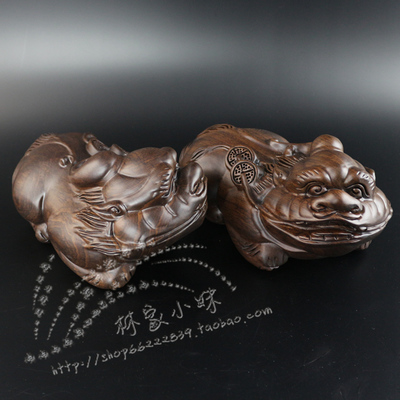 Priced at direct ebony wood carving hand pendant Lucky brave town house home furnishing Redwood gifts