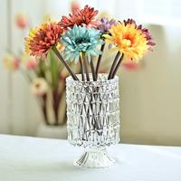 创意水晶玻璃插花瓶水培绿萝睡莲铜钱草客厅现代装饰花器摆件