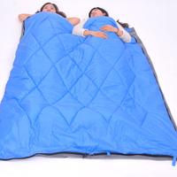 夏诺多吉 四季户外睡袋 单双人轻信封式睡袋 防水学生睡袋 蓝色