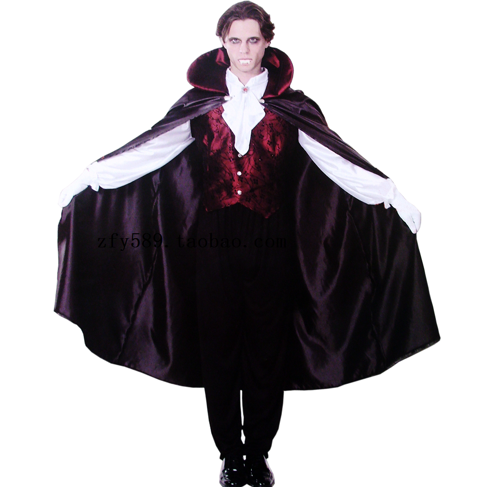 Halloween Vampire suit clothing Adult male costumes happy