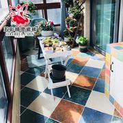 五彩精灵仿古砖地砖异型砖 清新田园 客厅户外卫生间阳台瓷砖