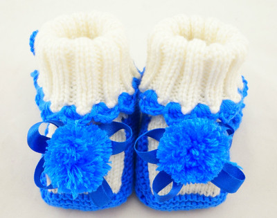 Hand-woven baby shoes for men and women fall and winter baby shoes soft soled shoes deep mouth wool shoes newborn 0-1 years old