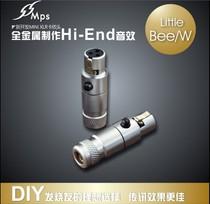 台湾MPS mini卡农头三芯话筒麦克风风插头XLR音频头迷你焊接母头