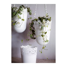 Ikea bought gura hanging flower POTS, 12 cm gray adornment