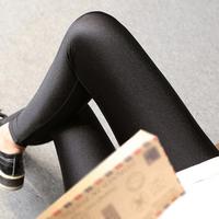 2016秋冬季新款女士紧身高腰打底裤200斤胖mm修身薄款大码光泽裤