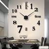 现代简约挂钟客厅创意艺术墙贴时钟家用 DIY个性时尚数字钟表挂表