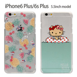 日本Sanrio正品Hello Kitty iphone6/6s Plus手機套保護殼(透明)