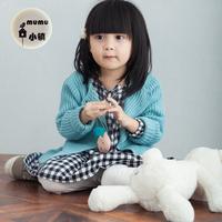 韩国2016秋儿童外套开衫女童粗线毛衣加厚纯色上衣森女中小儿童装