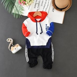1-4岁童装2014宝宝长袖套装秋季卫衣3小童纯棉男童两件套