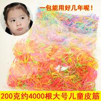 儿童发圈头绳不伤发女童扎头发一次性彩色橡皮筋韩国宝宝绑发发圈