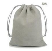 布袋拉绳包束口袋绒布袋抽袋加厚折叠零钱包内袋方形松紧红超市