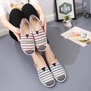 春夏老北京布鞋女百搭鞋学生鞋一脚蹬懒人鞋平底单鞋