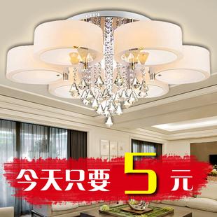 现代简约水晶灯圆形大气客厅灯LED卧室圆形吸顶灯餐厅灯大厅灯具