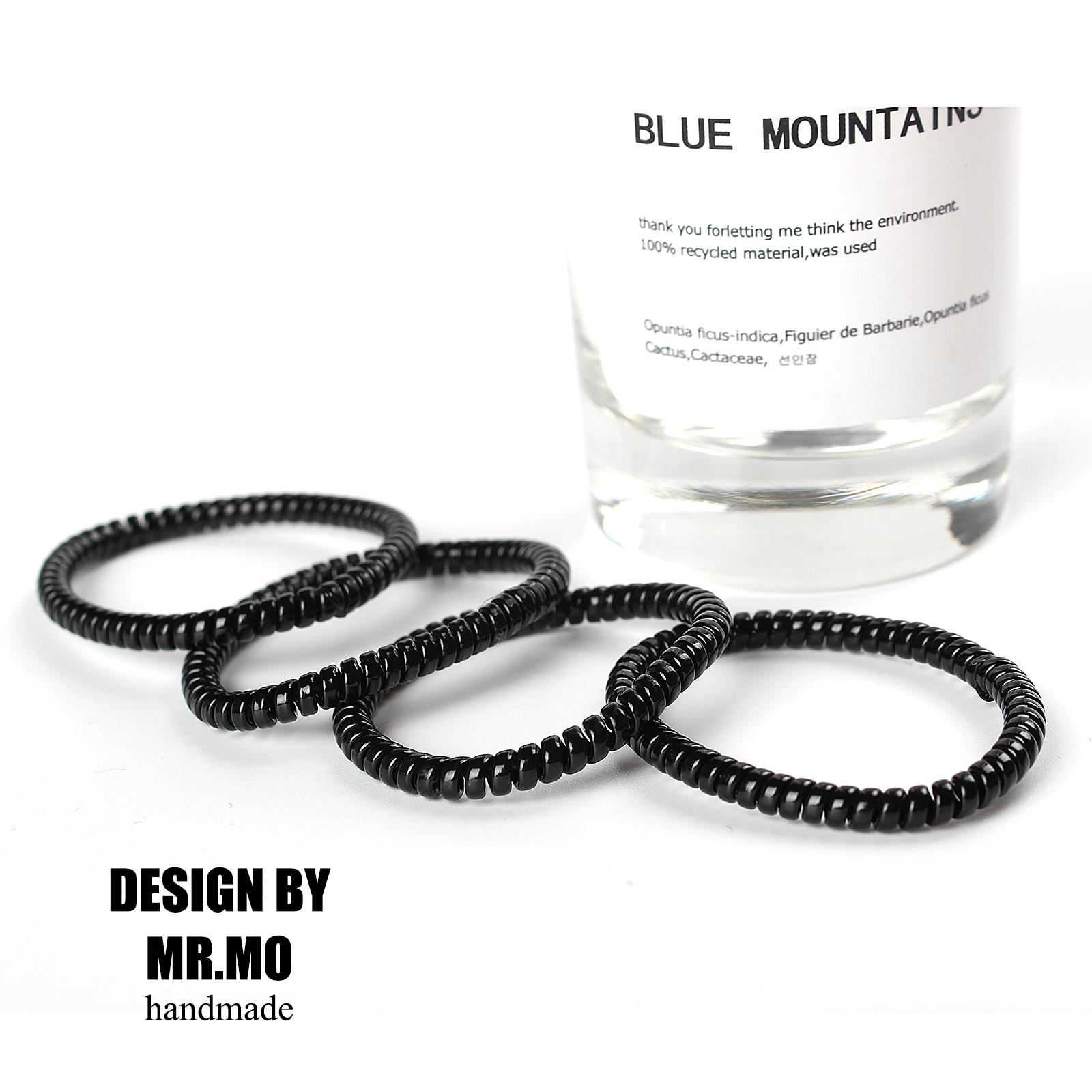 MRMO出口韩国电话线发圈细款发饰小号橡胶绳扎马尾头绳20条装