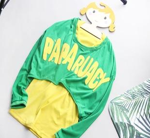 B128-714两件套女吊带背心斗篷型外褂短外套夏秋上衣T恤套装