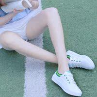 帆布鞋女单鞋子夏秋季小白鞋平底板鞋系带韩版透气跑步运动休闲鞋