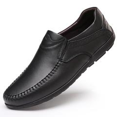 西域骆驼男鞋秋季皮鞋真皮软底中年爸爸鞋男士鞋子男