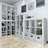 现代简约储物收纳柜子自由组合格子柜客厅落地置物架宜家书架书柜