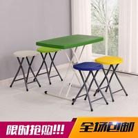折叠椅简易便捷式家用吃饭椅子时尚塑料折叠圆凳子户外吃饭椅子