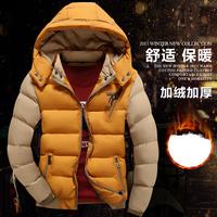 度堡罗2016秋冬新款加厚棉衣男士棉服青年韩版羽绒棉袄修身外套