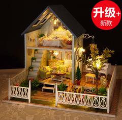 小房子模型玩具屋手工diy小屋大型豪华别墅 超大公主房屋女生