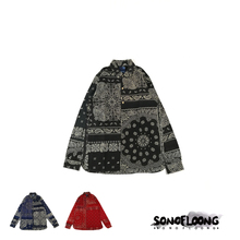 SONOFLOONG bandana long rider shirt腰果花拼接衬衫VISVIM