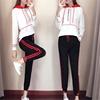 网红衣服两件套装少女生春秋高中初中学生时尚运动服