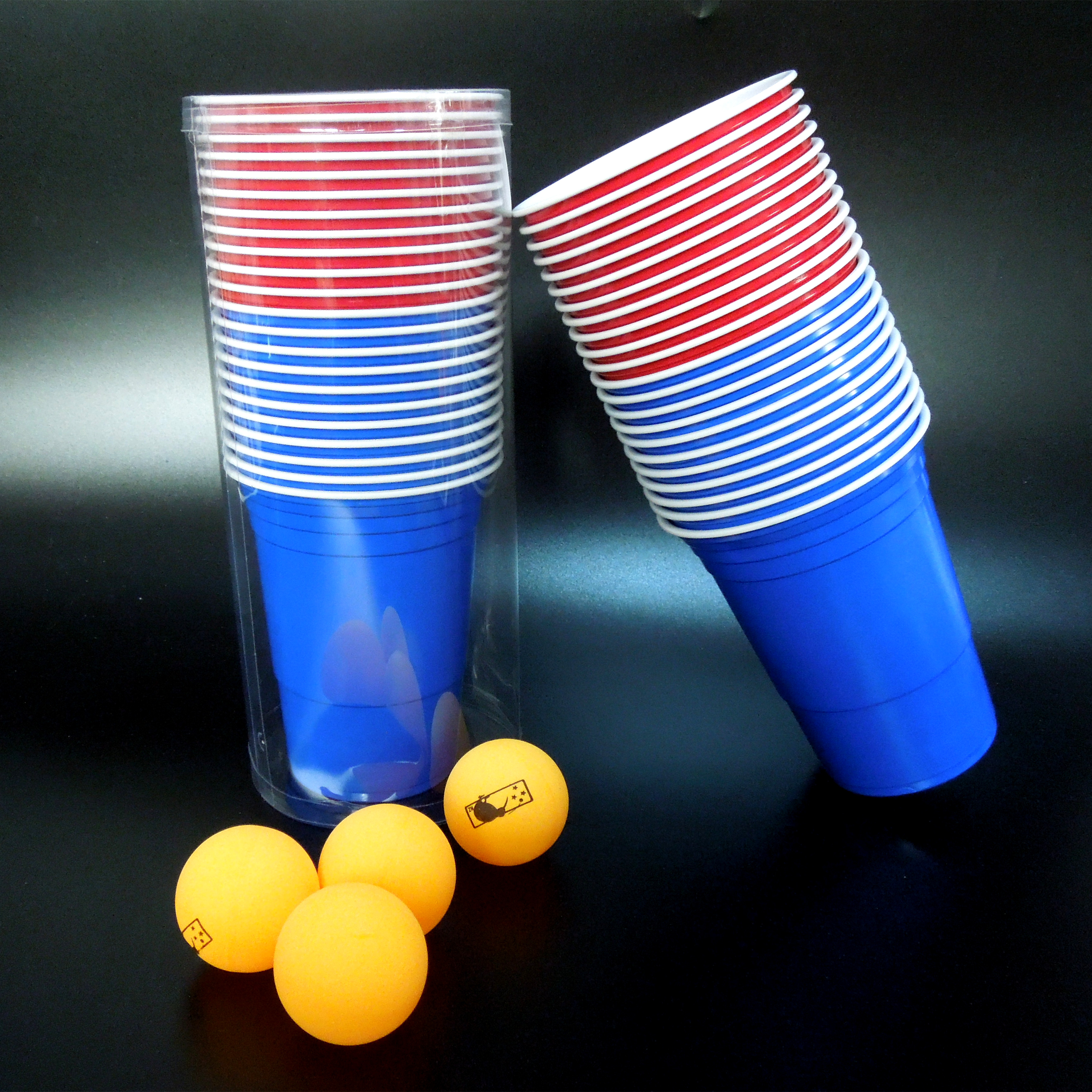 beer pong table cups杯子歌套盒游戏杯一次性 游戏桌 啤酒桌