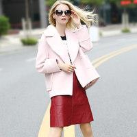 2016冬装新款原创正品oversize甜美廓形收腰显瘦短款羊毛呢子外套