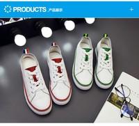 小白鞋女春秋新款系带韩版休闲真皮单鞋板鞋