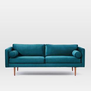 北欧宜家后现代单双三人布艺沙发美式乡村简约客厅样板房店铺沙发