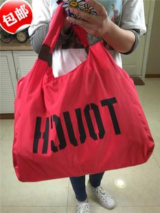 字母单肩尼龙包大容量帆布包女包购物袋广场舞旅游包