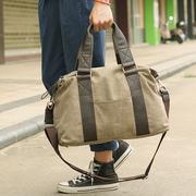 男包手提包帆布包男士旅行包行李包单肩斜挎包潮