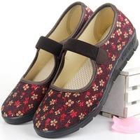 步锦轩新款老北京布鞋女春秋老人鞋休闲平底中老年女鞋软底奶奶鞋