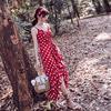 奈良泰国沙滩裙红色连衣裙2018夏女海边度假夏季波西米亚长裙