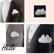 免折英伦白色口袋方巾 男士西装口袋巾直插式 韩版礼服胸巾手帕潮